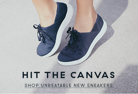 Hit the canvas... shop unbeatable sneakers