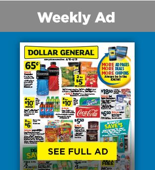 Savings on Weekly Circualr at Dollargeneral.com
