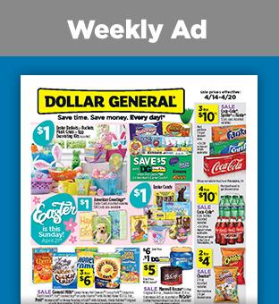 Savings on Weekly Circular at Dollargeneral.com