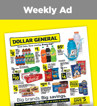 Savings on Weekly Circular at Dollargeneral.com