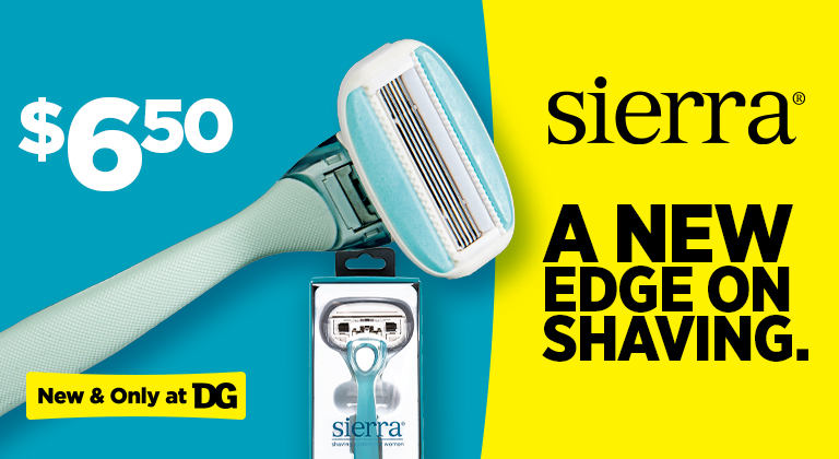 Shop our New Sierra Razors at Dollar General