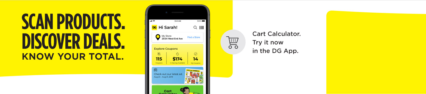 Download the Dollar General app to use our cart calculator.