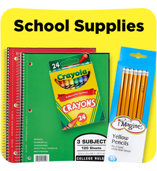 Find all you school supplies at Dollar General.