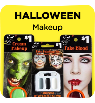 Find all your halloween make up at Dollar General.