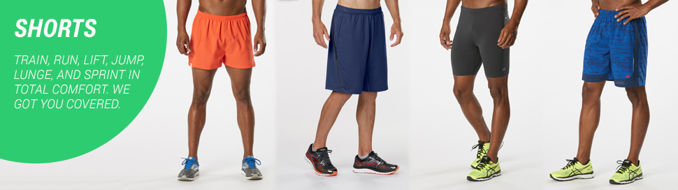 asics mens running shorts