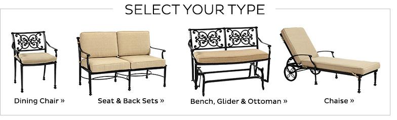 Outdoor Chair Cushion A   19.5 X 18.5