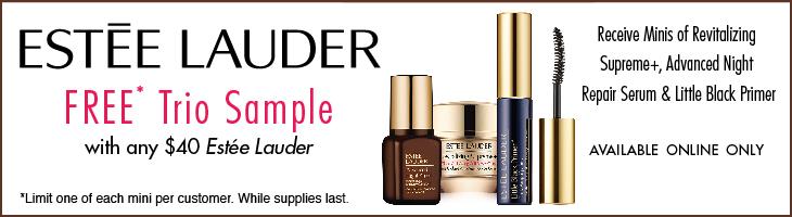 Receive a free 3-piece bonus gift with your $40 Estée Lauder purchase