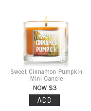 Sweet Cinnamon Pumpkin Mini Candle > Add to Bag