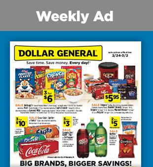 Savings On Weekly Circular At Dollargeneral