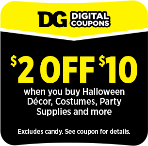 Sign up or Sign In DG Digital Coupons for BOGO free all halloween masks, makeup and accessories at dollargeneral.com