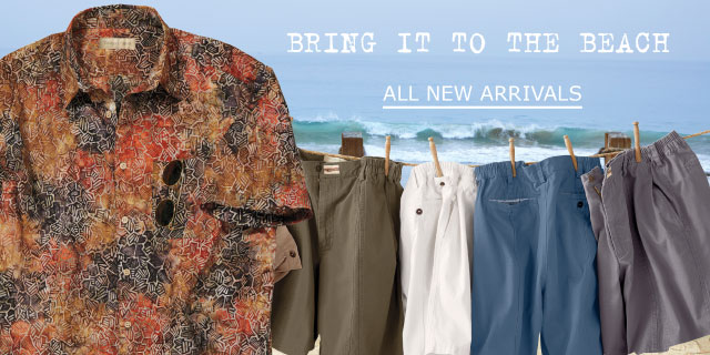 64b160bca Bring it to the beach. With NEW batik prints & comfy shorts. All New